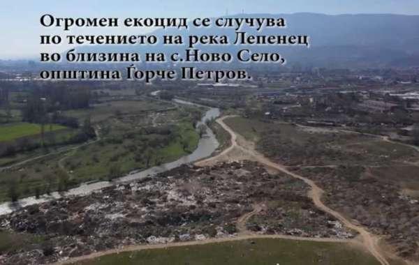 Огромен екоцид се случува на реката Лепенец во с.Ново Село
